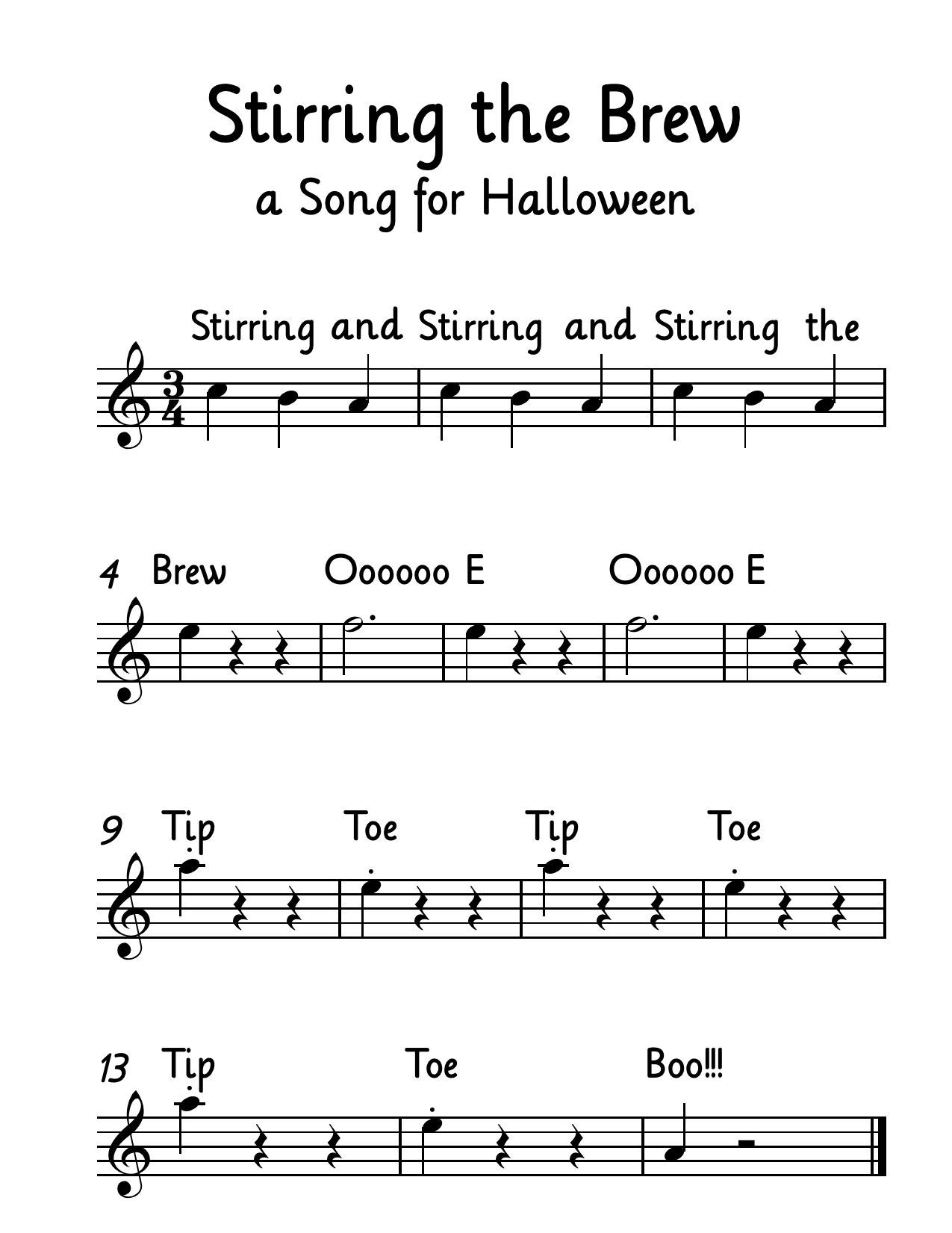 A Halloween Song