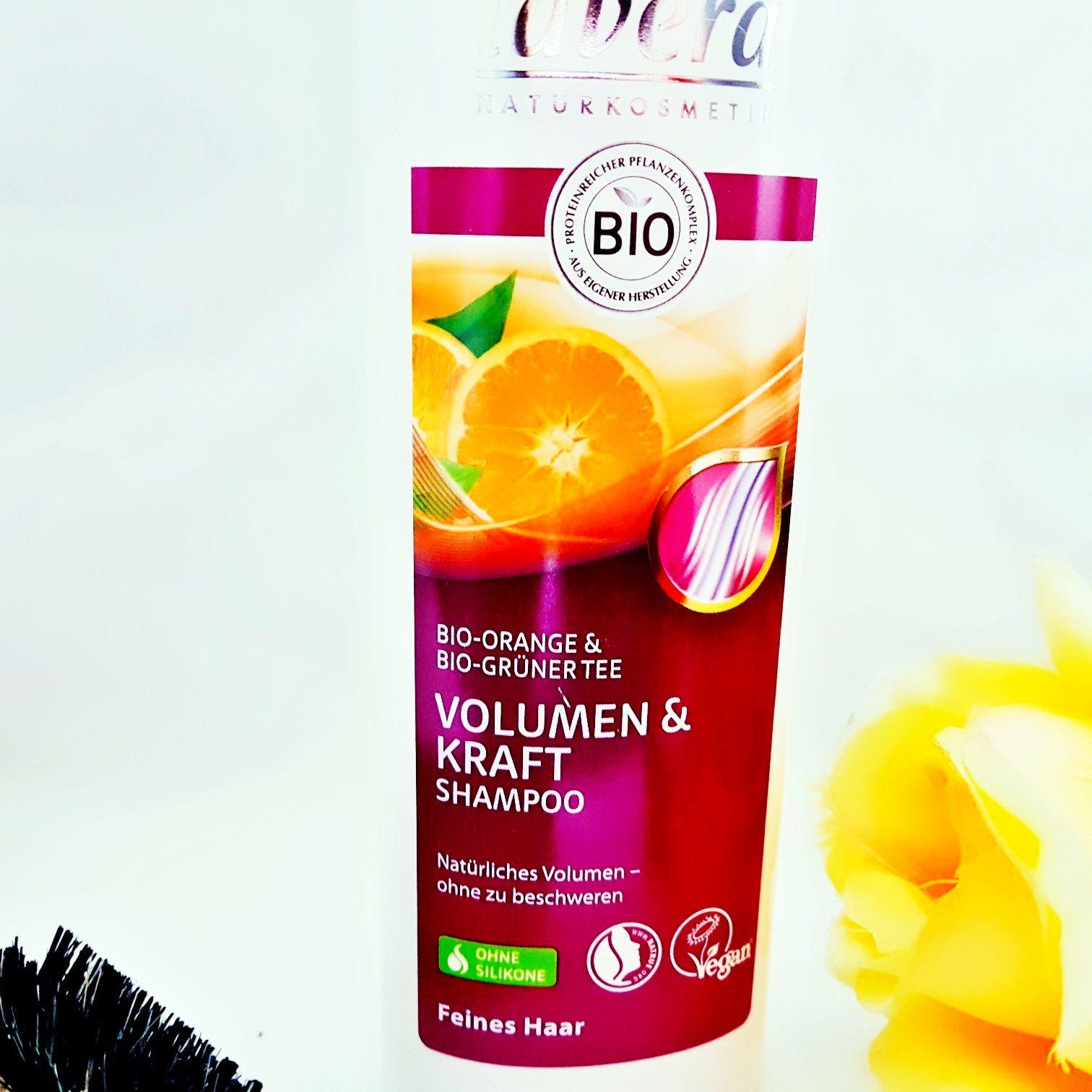 Lavera Volumen & Kraft Shampoo mit Bio-Orange & Bio- Grüner Tee
