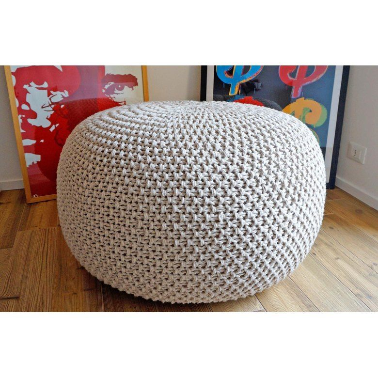Bean bag ottoman pouf pattern knitting pattern by