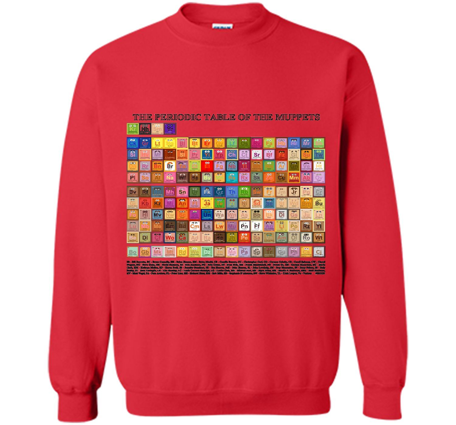 Periodic table of the muppets tshirt periodic table and products periodic table of the muppets tshirt gamestrikefo Image collections