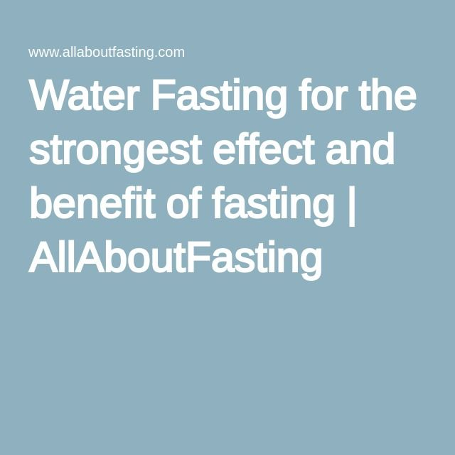 how to prepare for a water fast