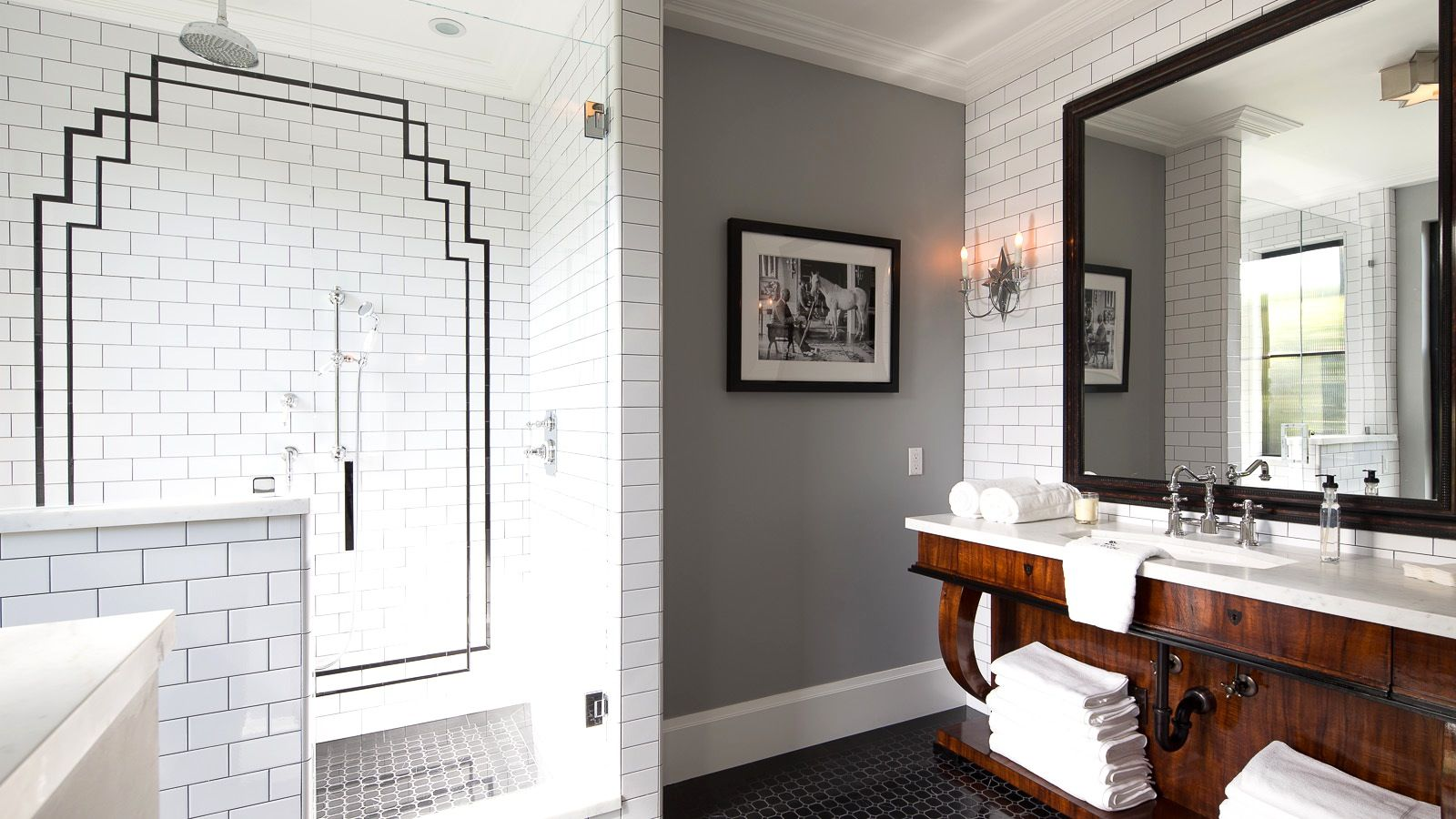 Black and white art deco bathroom - Deco Bathroom Ideas Black And White Visi Decorating Bathroom Ideas Black And White Visi Build