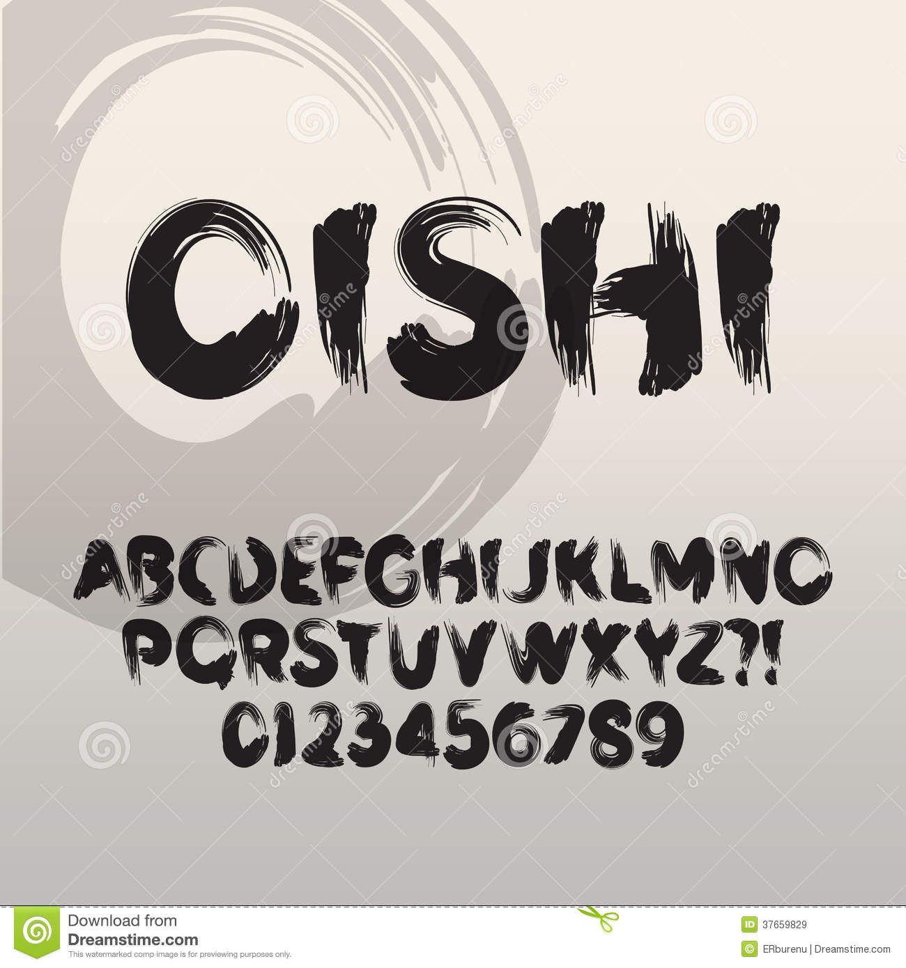 Asian Brush Font Brush font | fo...