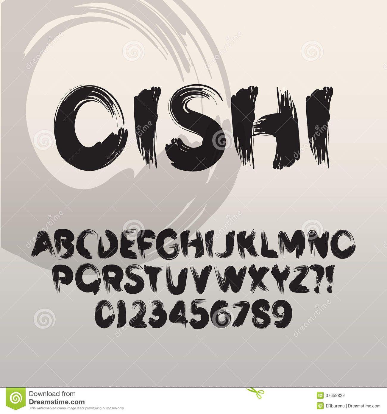 paint brush font
