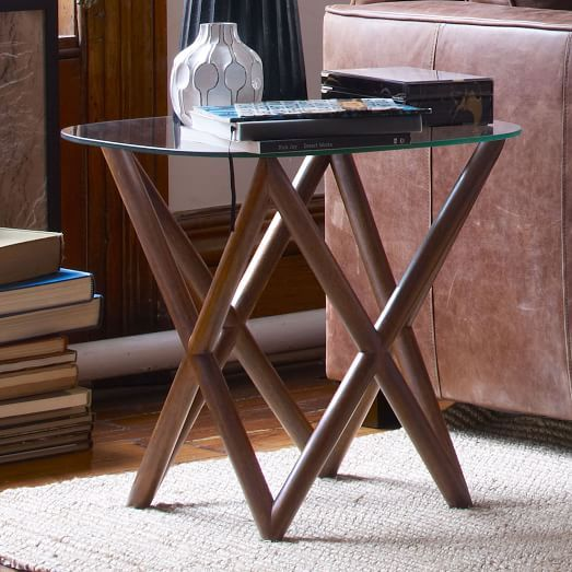 Spindle Side Table Wood And Glass West Elm Home Design - West elm spindle coffee table