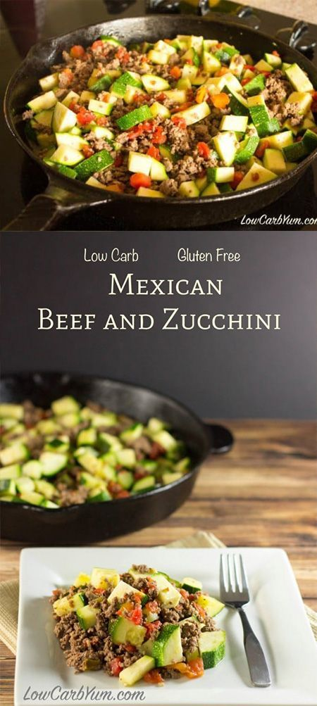 Photo of Low Carb Mexican Zucchini and Ground Beef Recipe – MEXICAN ZUCCHINI …