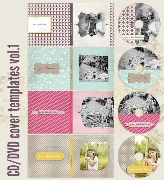 CdDvd Label And Dvd Cover Templates Vol By Thavenuedesigns
