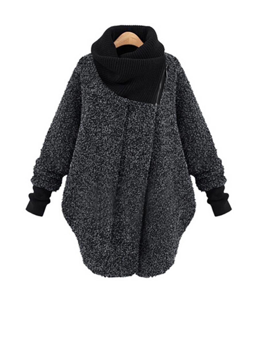 BerryLook - #berrylook Cowl Neck Batwing Sleeve Woolen Coat ...