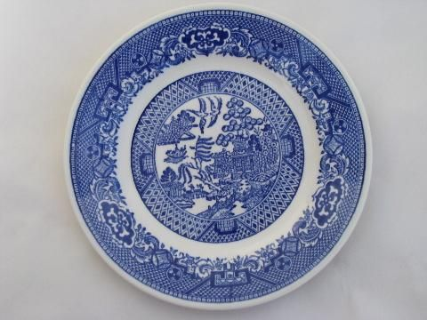 antique \u0026 vintage Blue Willow china lot of 18 bread \u0026 butter ... & antique \u0026 vintage Blue Willow china lot of 18 bread \u0026 butter or ...