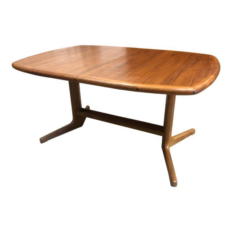 1960s Danish Modern D Scan Teak Extendable Dining Table Dining Table Extendable Dining Table Teak Dining Table