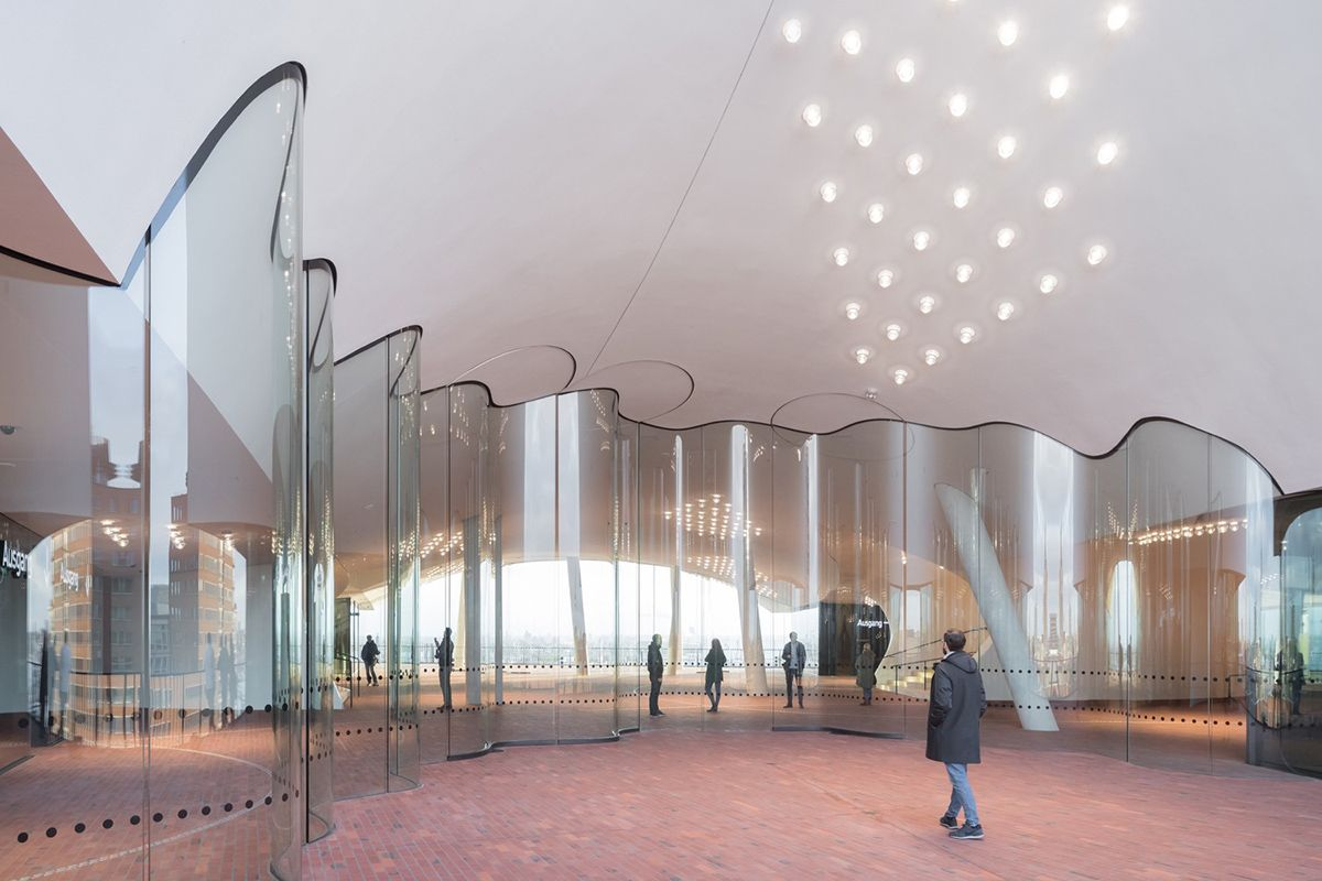 The Plaza Of The Elbphilharmonie By Herzog De Meuron Officially Opened To Public In Hamburg Elbphilharmonie Concert Hall Elbphilharmonie Hamburg Hamburg