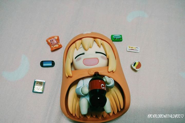 Umaru Chan being all happy & contented with her new home. _ Time to party with her snacks and cola to celebrate the occasion! by explorewithlovee http://ift.tt/1TfuyM7