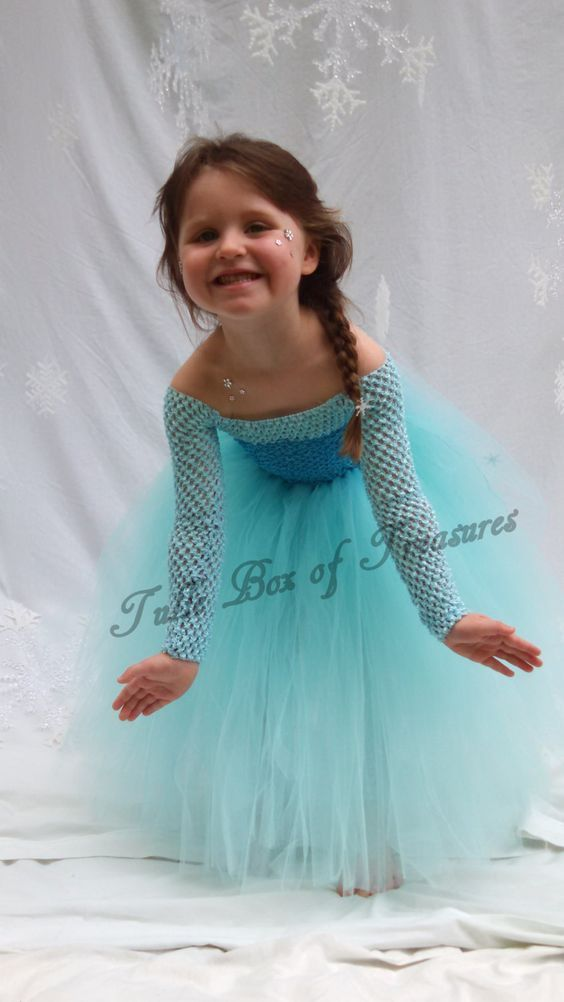 Blue and White Snow Princess Frozen in Time Costume ensemble ...