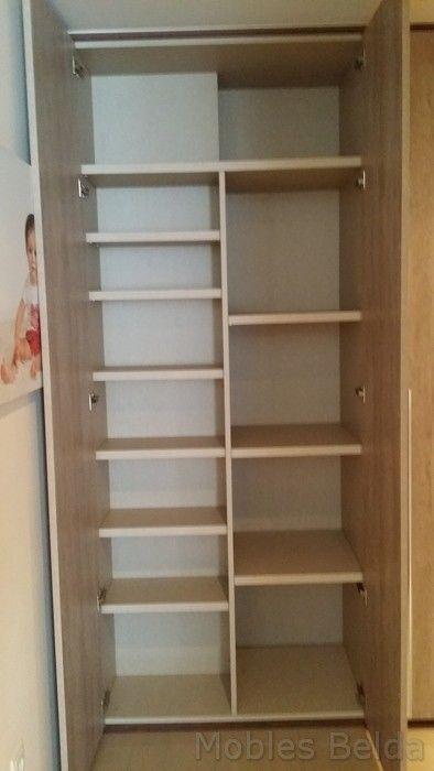 Soluci n de pilares lo absorbemos con el armario y - Estantes para armarios empotrados ...