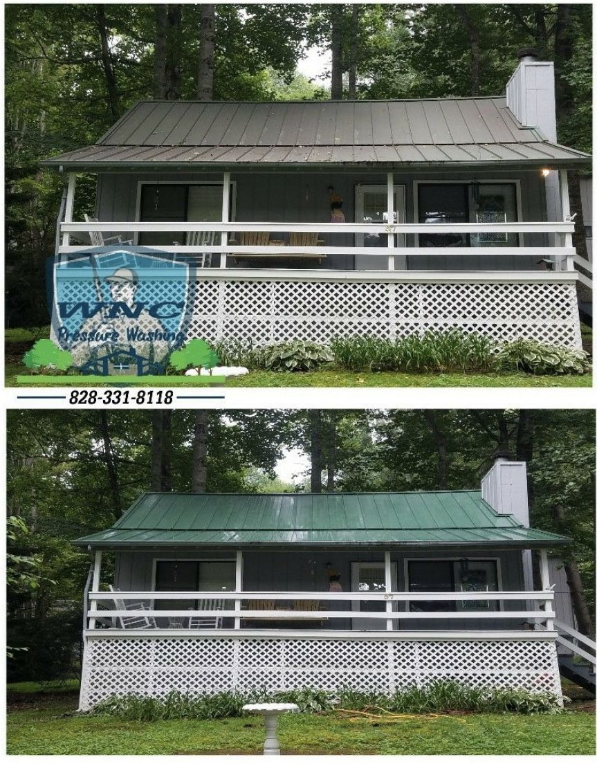 Asheville Metal Roof Cleaning In 2020 Metal Roof Roof Roof Cleaning