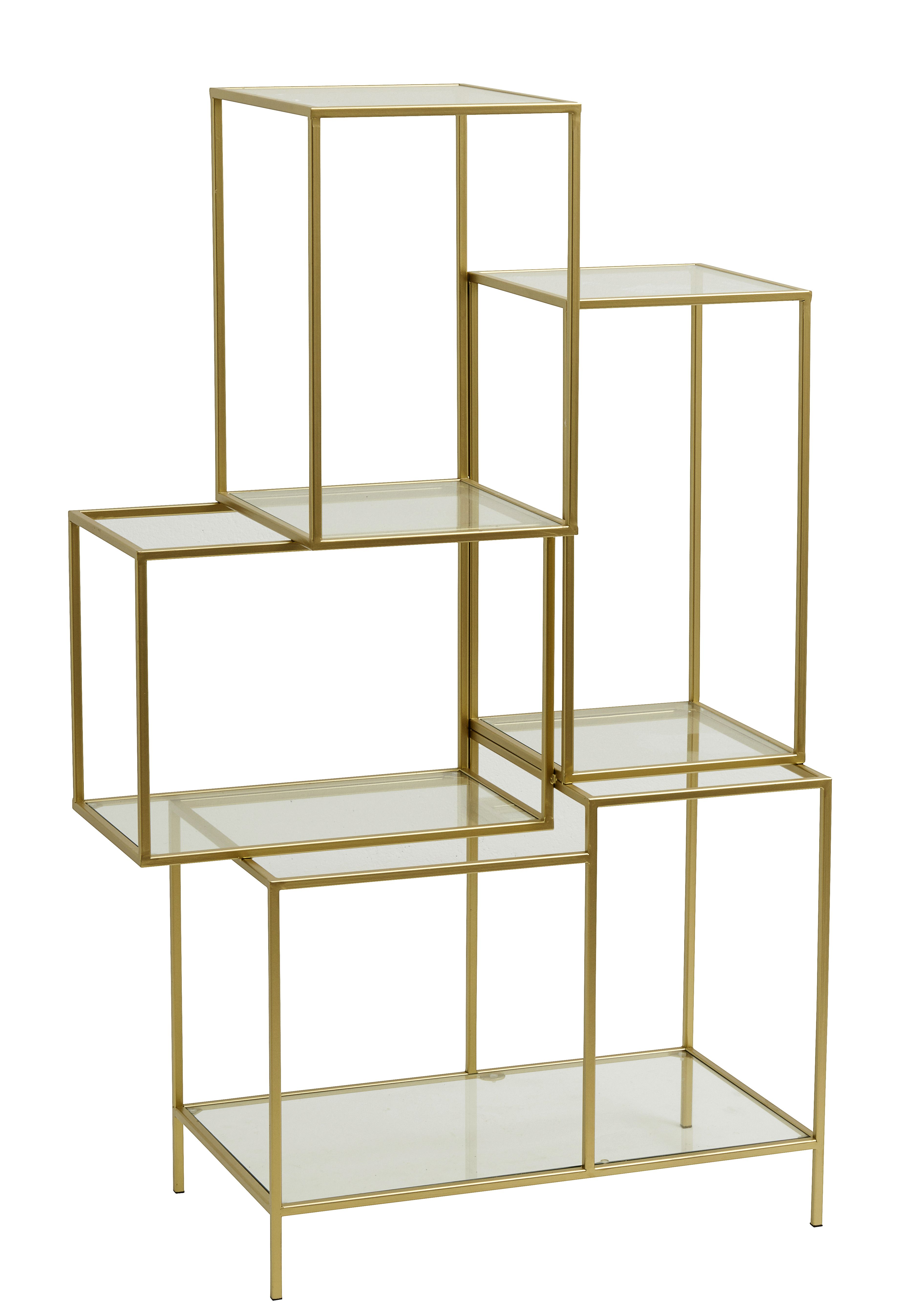 Rack with glass shelves, metal, gold | Cyril \'s family | Pinterest ...