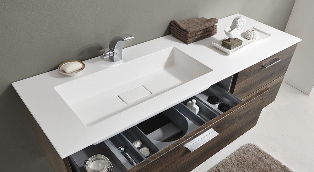 puris milano lavandino waschtisch 150 cm ablage rechts wss215r1fk49 megabad badezimmer. Black Bedroom Furniture Sets. Home Design Ideas