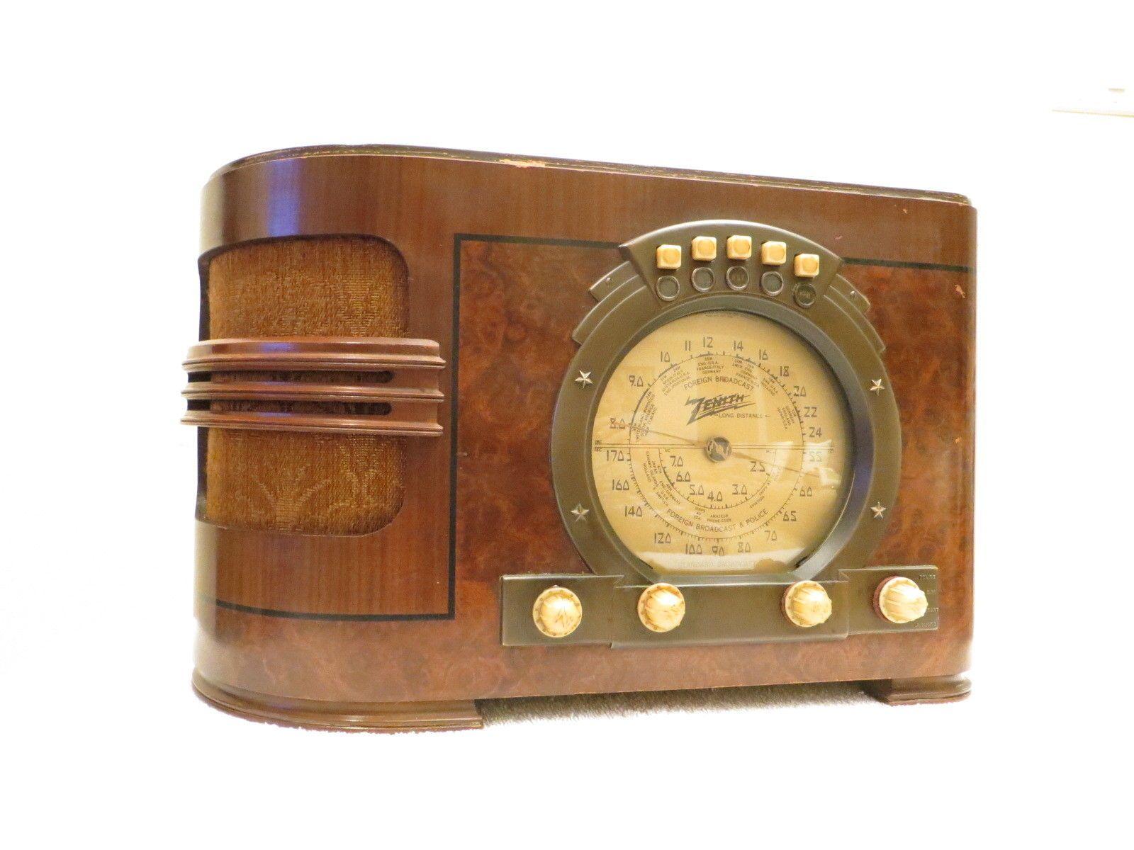 Vintage Old Excellent Original Antique Zenith Classic Stars Amp Stripes Tube Radio Vintage Radio Radio Old Radios