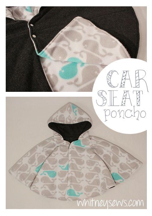 Baby Poncho Sewing Pattern : poncho, sewing, pattern, Reversible, Poncho, Whitney, Poncho,, Carseat, Pattern,, Sewing, Patterns