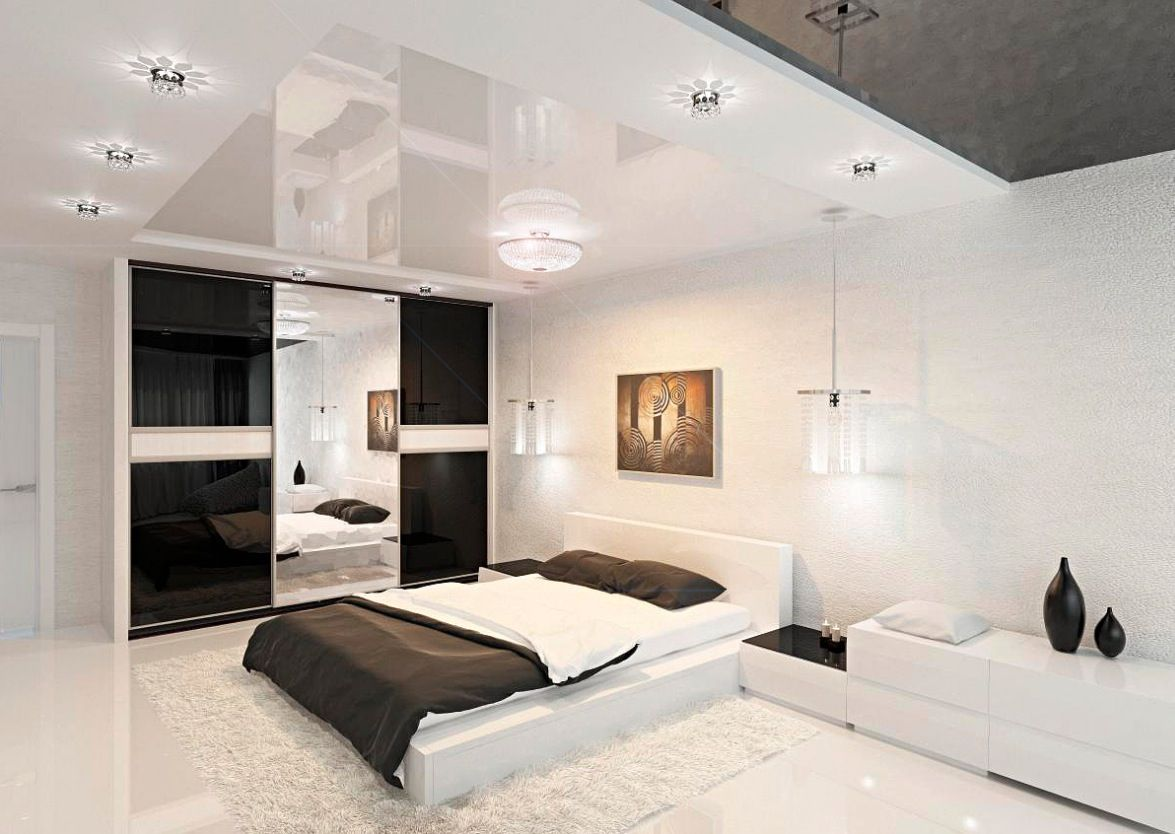 Bedrooms, Dazzling White Wall Paint Bedroom Design Inspiration With  Charming White Platform Bed On Combined Comfortable White Bed Sheet And  Wonderful White ...