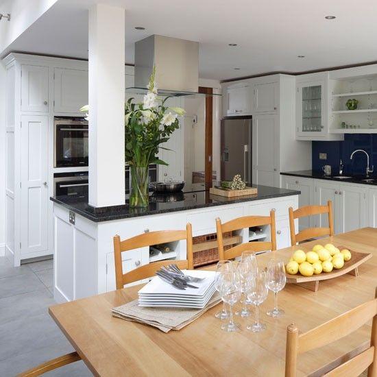 Functional Family Kitchen Traditional Kitchen Ideas Ideal Home Family Kitchen White Kitchen Traditional Kitchen Interior