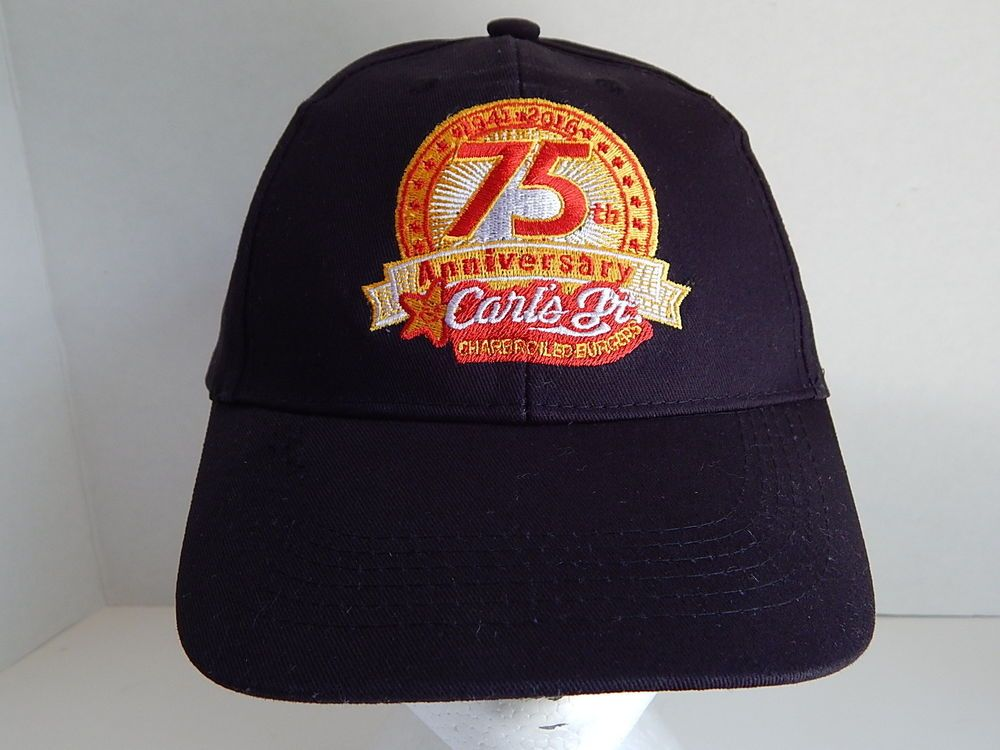 50ef39bf 2016 CARL'S JR Burgers Adult Black Baseball Cap Hat | Hats off to ...