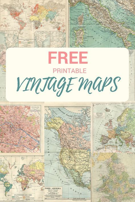 Ideas : A collection of copyright free printable vintage maps to download.