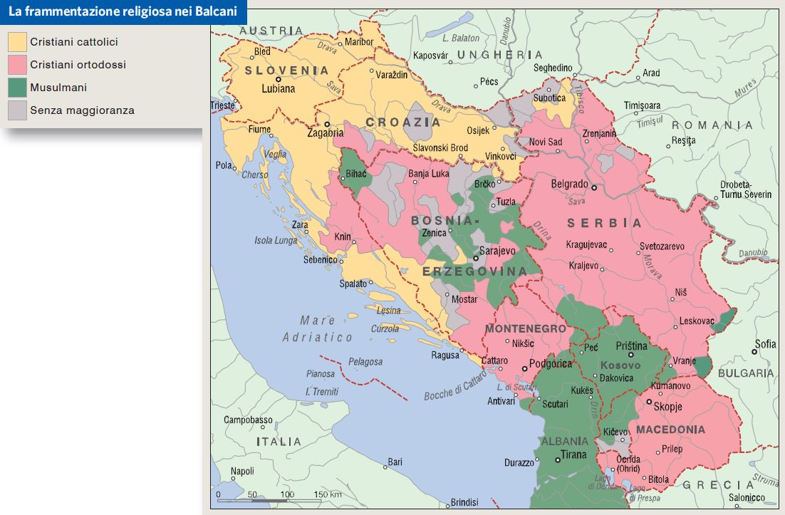Cartina Jugoslavia.Frammentazione Religiosa Nella Ex Jugoslavia Islam Slovenia Zagabria