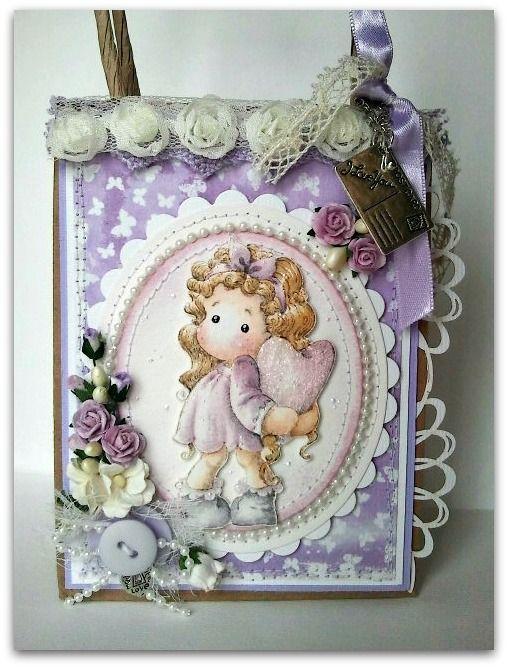 Magnolia cards by Barbara GR: Tilda Hiding Heart