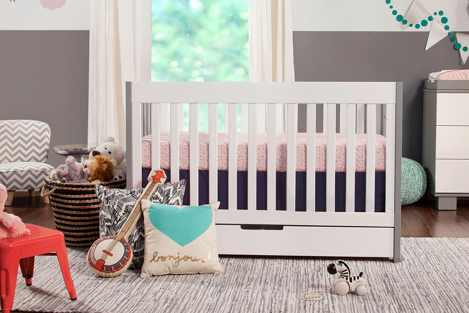 Best Mercer 3 In 1 Convertible Crib With Toddler Bed Conversion 400 x 300