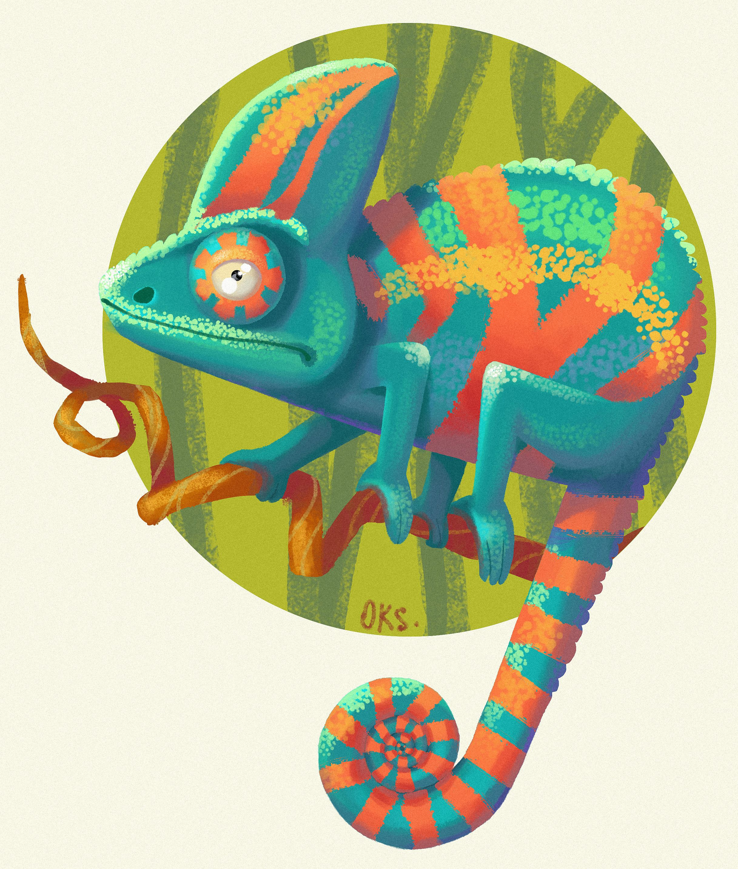 Chameleon Tattoo Designs Drawings: Animal Drawings, Chameleon, Art