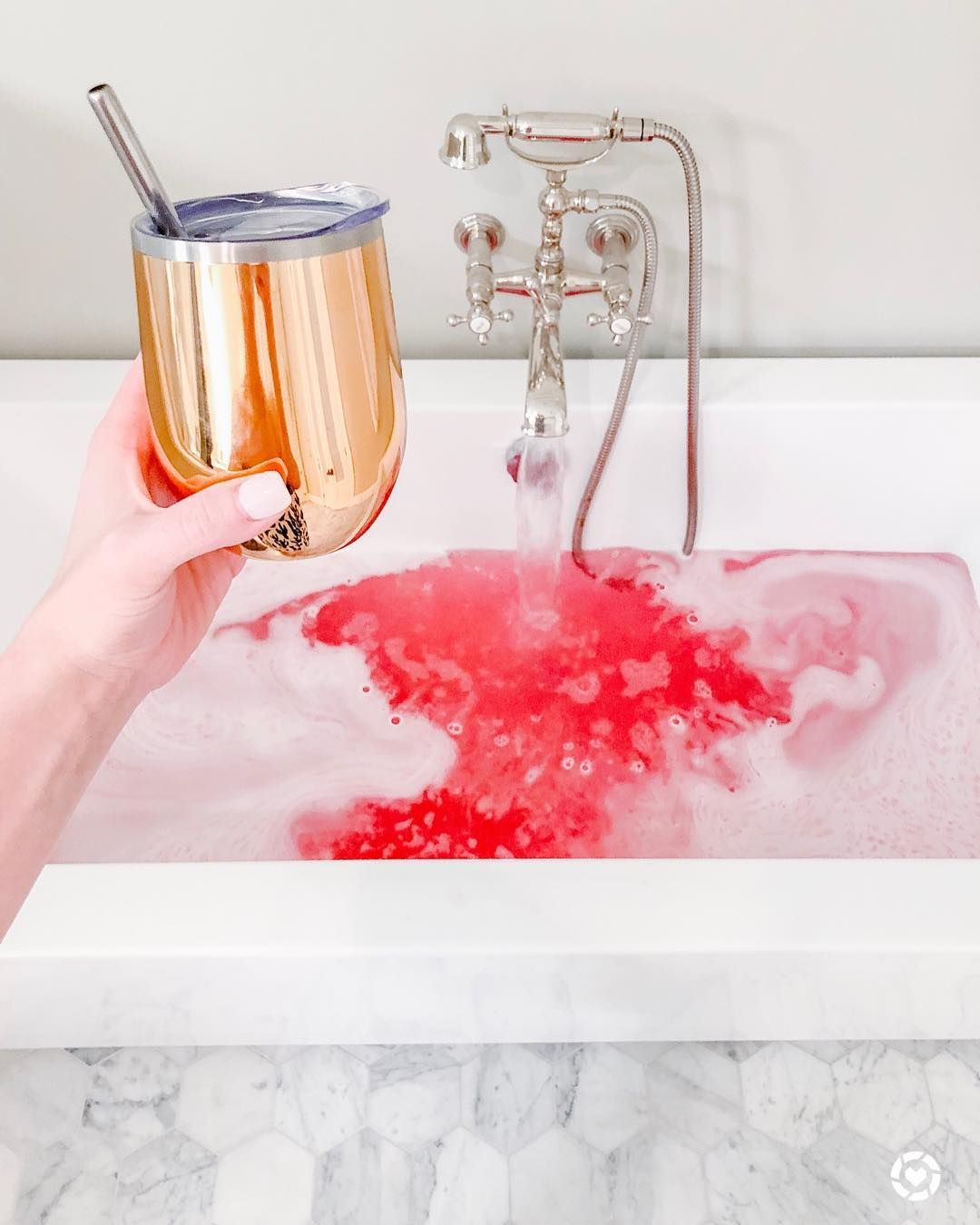 Does Anyone Kinda Hold Their Breath When They Plunge Into Bath Bomb Filled Tub I Always Freak Out A Little Thinking I In 2020 Galentines Party Relaxing Bath Glass