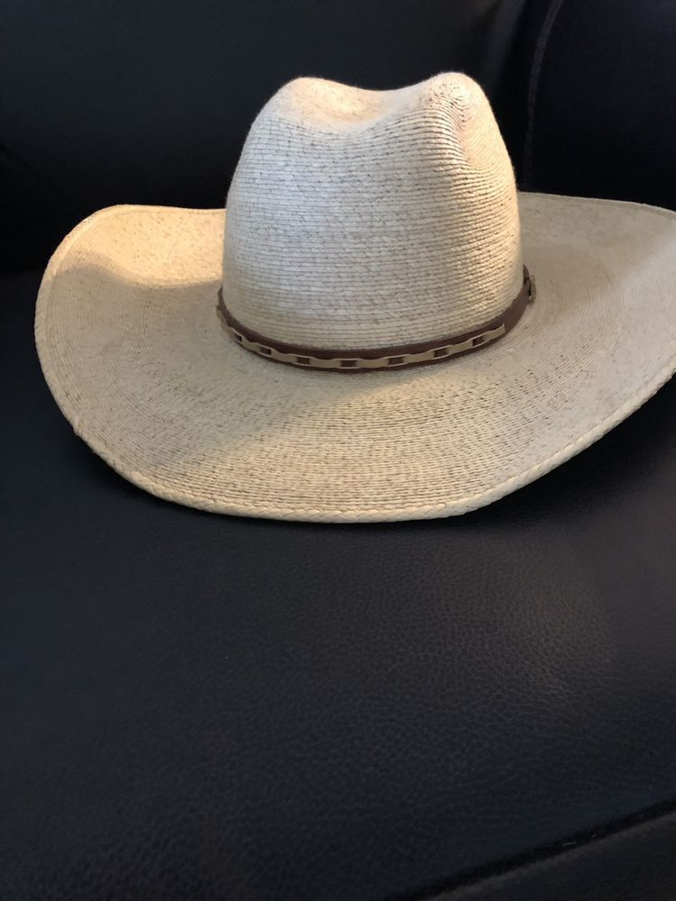 06fdcfc2367 ...  shoes  accessories  womensaccessories  hats (ebay link) · Alamo Palm  Hat with Idaho Crown 6 5 8 Great condition  fashion  clothing