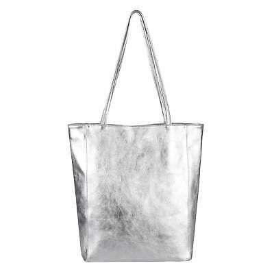 Photo of ITAL LADIES LEATHER BAG Metallic Shopper Shoulder Bag Handbag