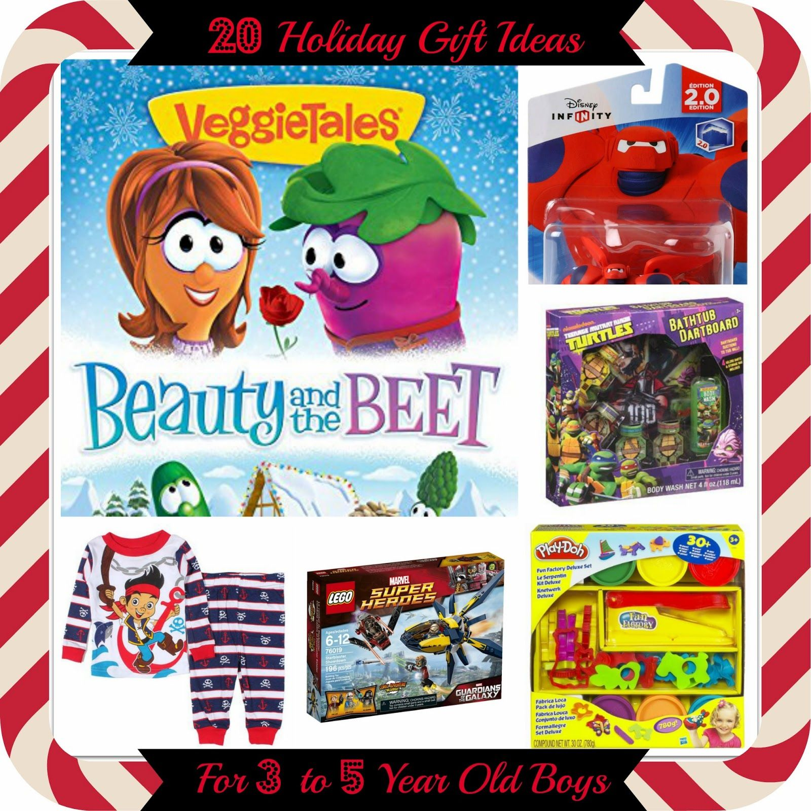 20 Holiday Gift Ideas for 3-5 Year Old Boys - Do you have a 3 to 5 year old little boy to buy for this season and have no idea what to get?  Come take a sneak peek at my sons Christmas list who have done all the hard work for you! #Christmas2014