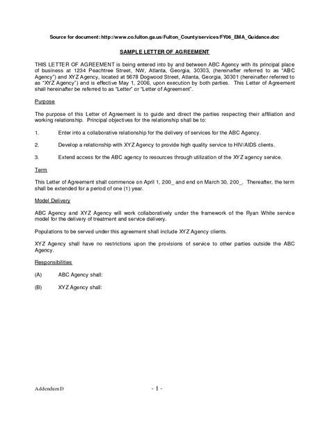 Collection Agreement Template Dental Financial Payment Plan Letter Sample