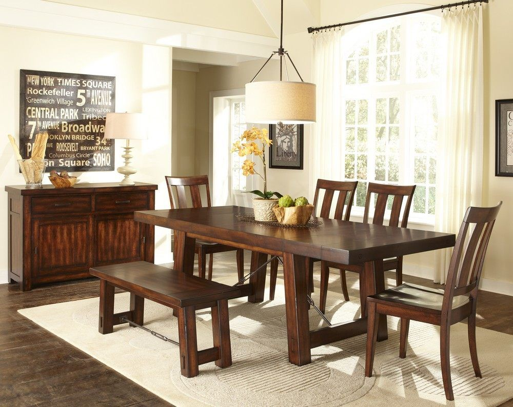 Buy Liberty Furniture Tahoe 7 Piece 90x40 Rectangular Dining Room