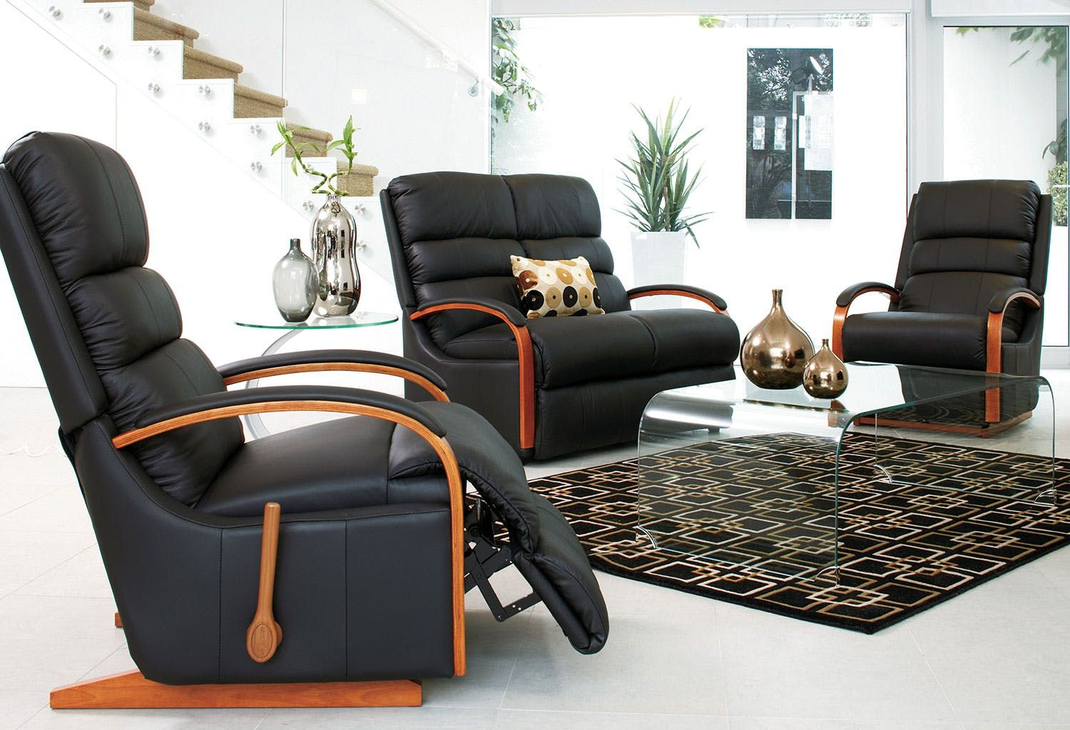 Featuring Charleston Leather Recliner By La Z Boy Lazboy
