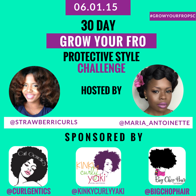 30 Day Grow Your Fro Protective Style Challenge Starts Today How To Grow Natural Hair Grow Natural Hair Faster Style Challenge