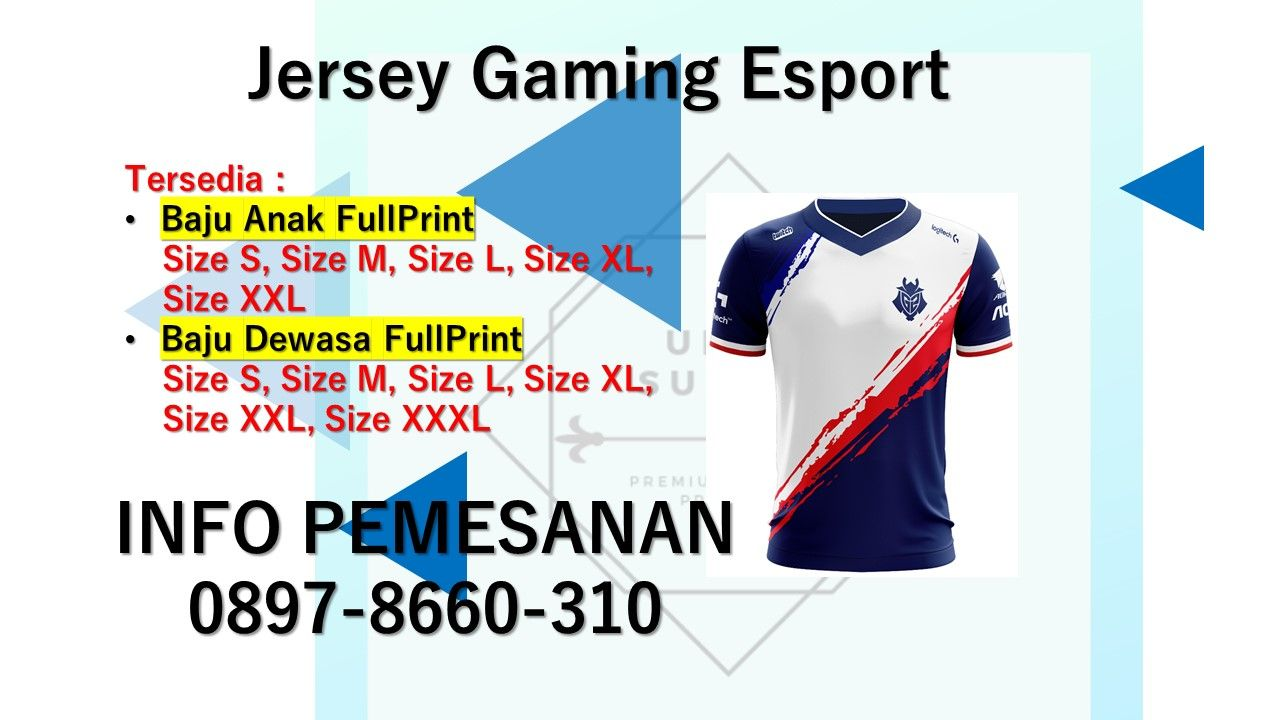 Pin Di 0897 8660 310 Jersey Gaming Esport