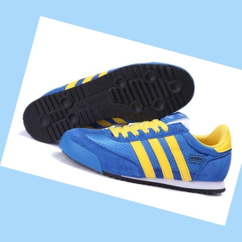 adidas dragon shoes blue and yellow
