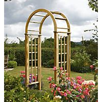 Forest Ultima Pergola Arch Natural Timber 1 82 X 1 36 X 2 45m