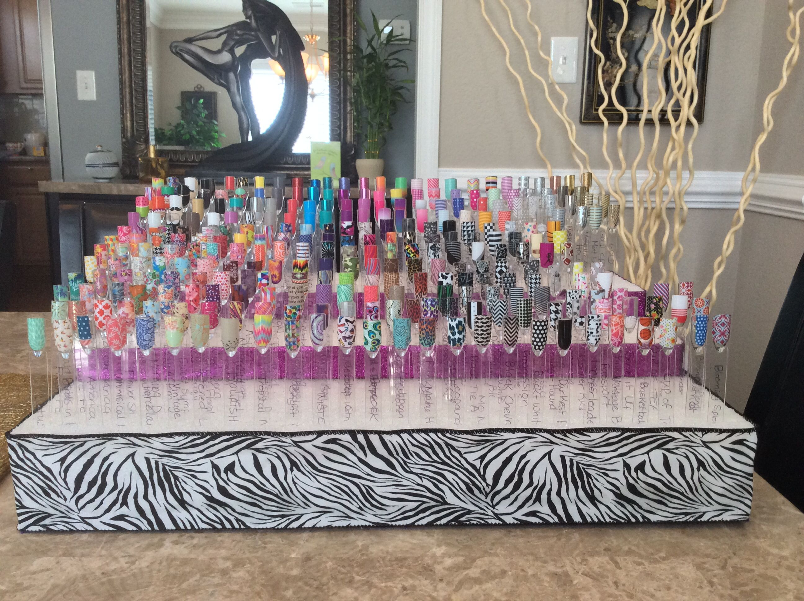 19 best unghie organizzazione images on pinterest make up best way to display your jamberry nail art wraps using styrofoam i bought my samples prinsesfo Images