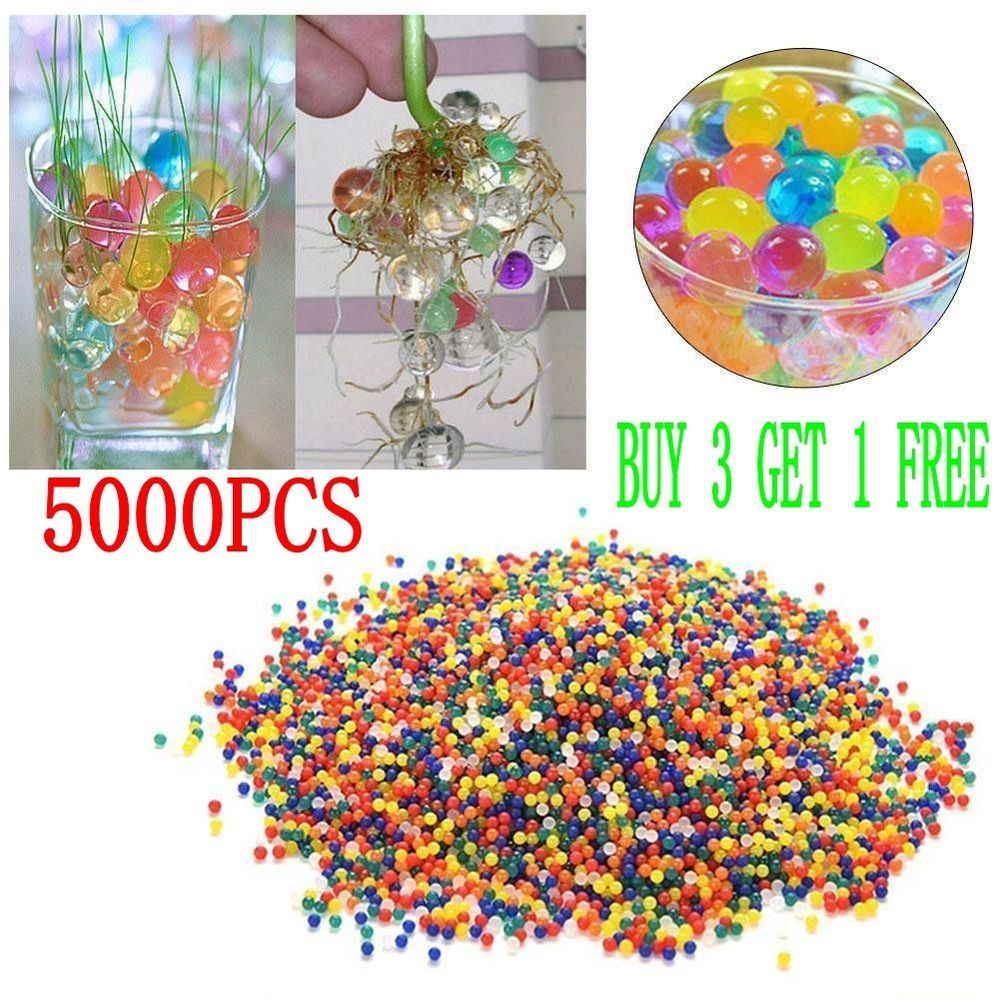 5000pcs Water Balls Crystal Pearls Jelly Gel Beads for Orbeez Toys Refill Decor #UnbrandedGeneric