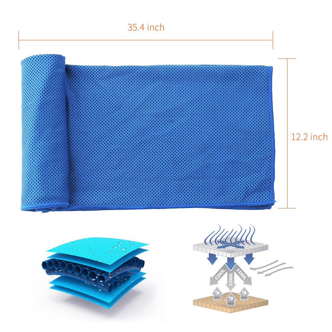 Acevery Cooling Towel 2 Pack Cool Towel For Instant Cooling Relief