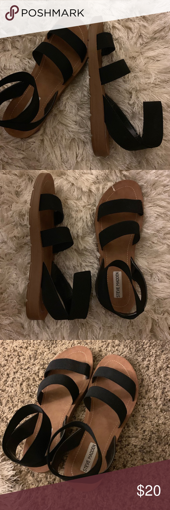 Steve Madden Raffy Sandals, BARELY WORN
