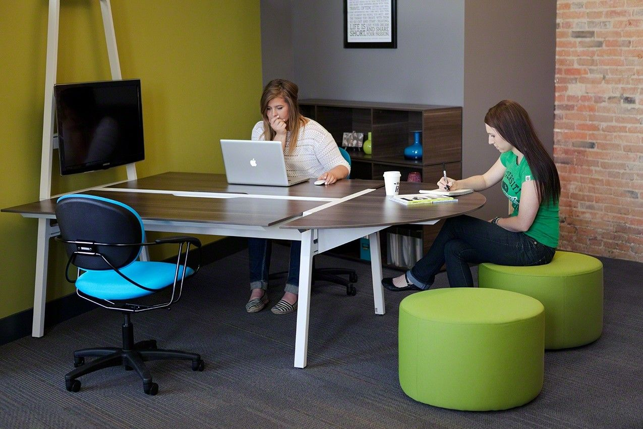 Steelcase Turnstone Bivi Half Round Table Top | Space | Pinterest | Round  Table Top, Rounding And Office Spaces