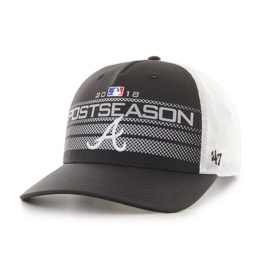 2c695ecd90691 Men s Atlanta Braves  47 Black 2018 Postseason Official On-Field Altitude  Adjustable Hat