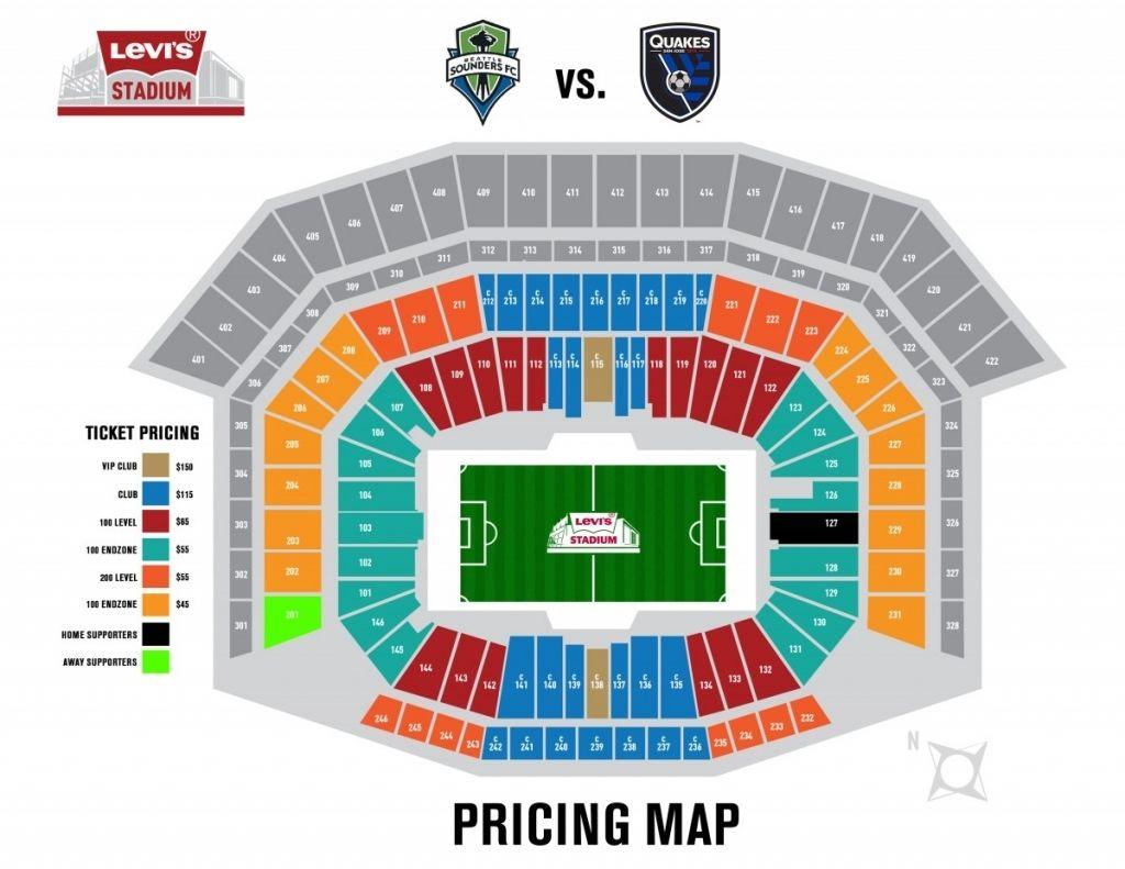 The Most Stylish Levis Stadium Seating Chart Seating Charts Levi Stadium San Jose Earthquakes