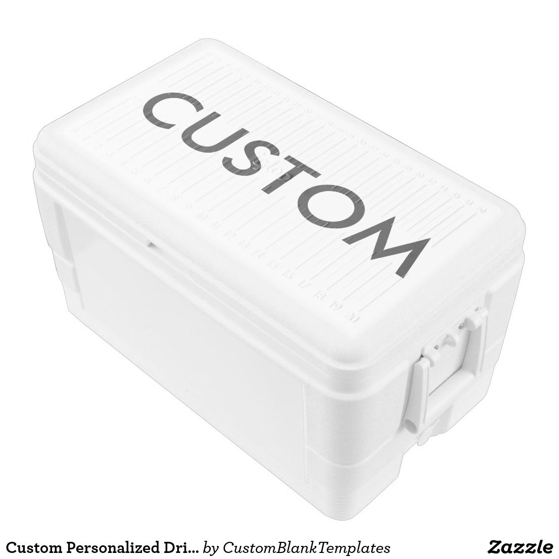 Personalized Drink Cooler Blank Template